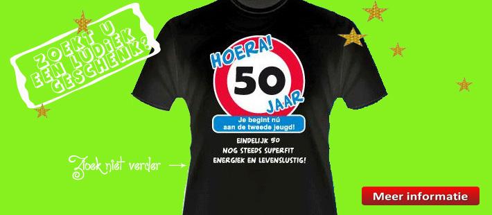 T-shirt met 50 jaar